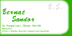 bernat sandor business card